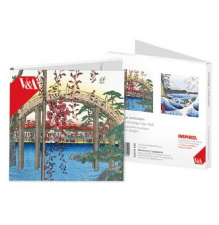 8 Blank Notecards  - 2 ass Hiroshige Landscapes  V&A